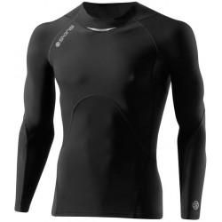 Skins Bio A400 Mens Black/Charcoal Top Long Sleeve