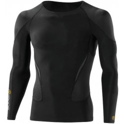 Skins Bio G400 - Golf Black Top Long Sleeve colour logo