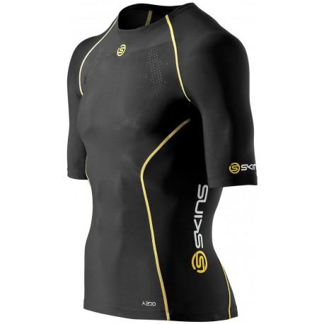 Skins Bio A200 Mens Black short sleeve top