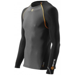 Skins Bio S400 - Thermal Mens Black/Graphite/Orange L/S T