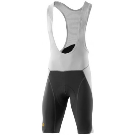 Skins Cycle  Mens White/Grey Compression Bib Shorts