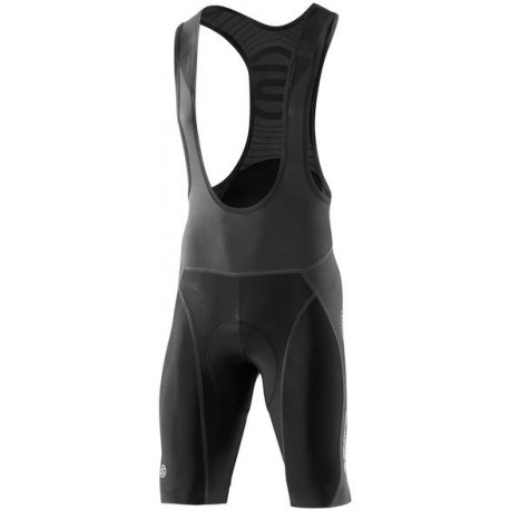 Skins Cycle  Mens Black/Grey Compression Bib Shorts