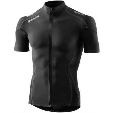 Skins Cycle  Mens Black/Grey Compresn S/S Jersey