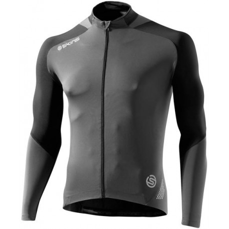 Skins Cycle  Mens Black/Grey L/S Jersey
