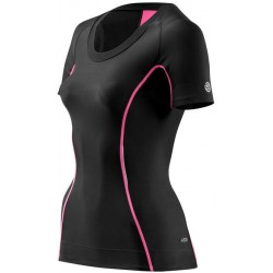 Skins Bio A200 Womens Black/Pink Top Short Sleeve