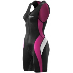 Skins TRI 400 Womens Black/Orchid Skinsuit w Front Zip