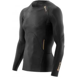Skins A400  Mens Black Top Long Sleeve