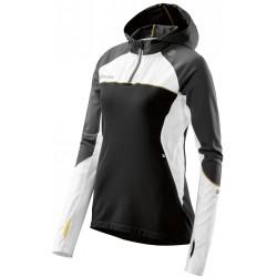 Skins PLUS Orion Womens Long Sleeve Hoodie Black/Cloud