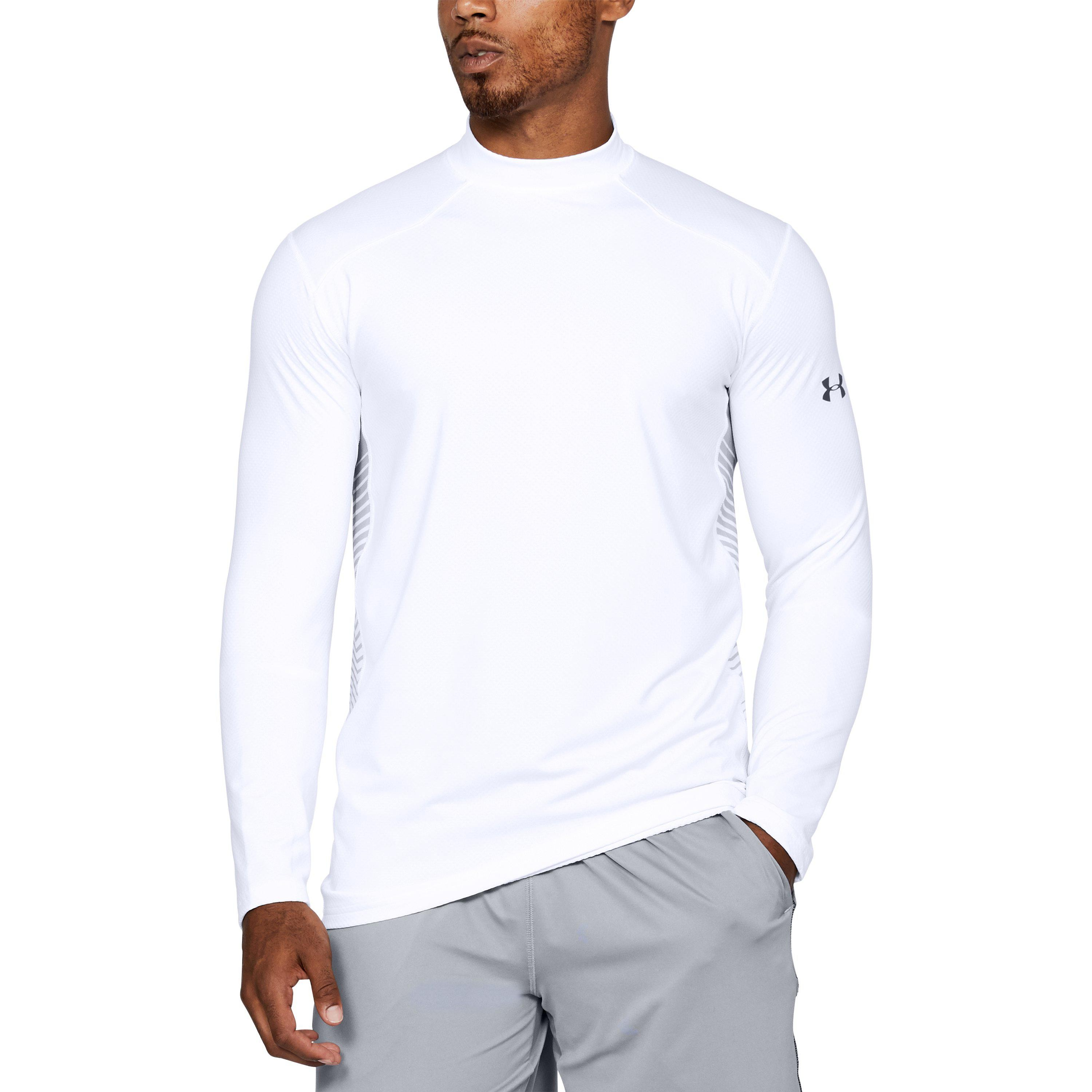 Under Armour Mens CoolGear Reactor Long Sleeve T Shirt Baselayer Top Compression