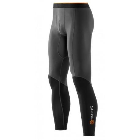 Skins Bio S400 - Thermal Mens Black/Graphite/Orange Thermal Long Tights