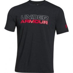 Mužské tričko Under Armour Charged Cotton® Wordmark Stack