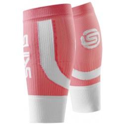 Skins  Essentials Seamless Unisex Calftights Fluro Peach/White