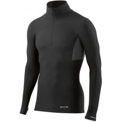 34866fb15f5b8 Skins DNAmic Thermal Men's Compression L/S Mock Neck with zip Black/Charcoal
