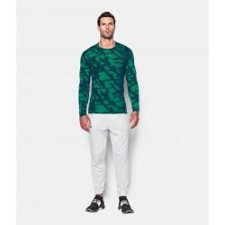 Mužské kompresné tričko s dlhým rukávom Under Armour COLDGEAR® Jacquard Crew