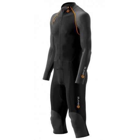 Skins Bio S400 - Thermal Mužský Overal All-in-one Black/Graphite/Orange
