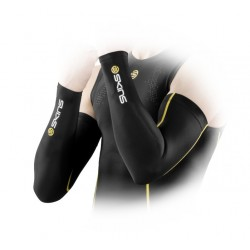 Skins Bio mužské kompresné návleky na ruky Black/Yellow