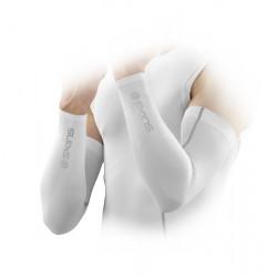 Skins Bio mužské kompresné návleky na ruky White
