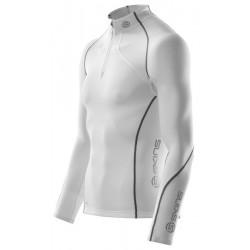 Skins Bio A200 Mužský termo vrch so zipsom biely