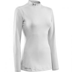 Ženské kompresné tričko Under Armour ColdGear® Fitted Mock s dlhým rukávom