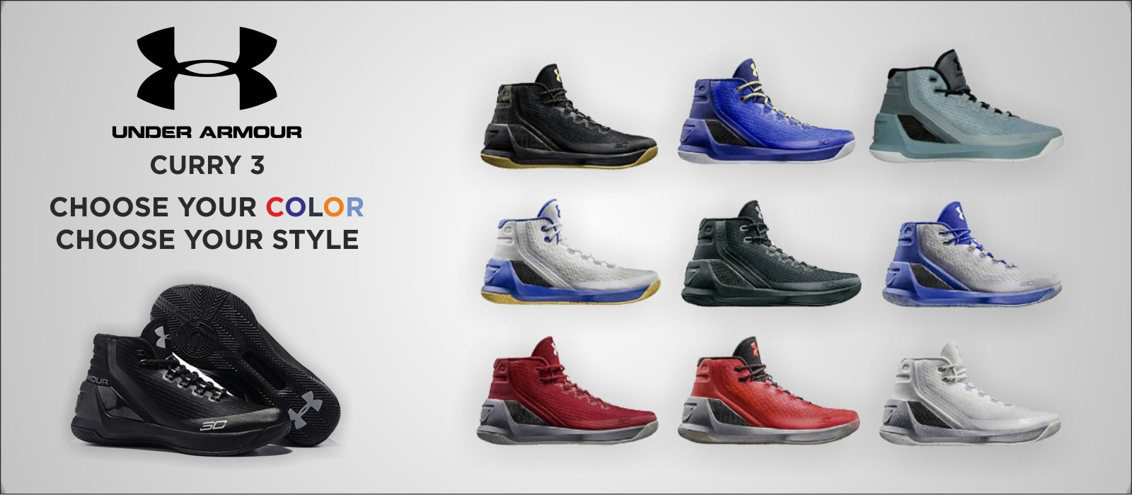 UNDER ARMOUR CURRY 3 - choose your colour